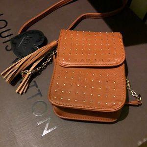 Handbags - Small dark tan crossbody new with tags